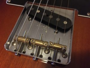 New Gotoh saddles on Telecaster Special
