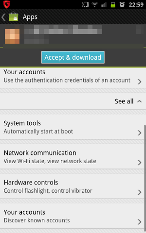 Android app screenshot 2